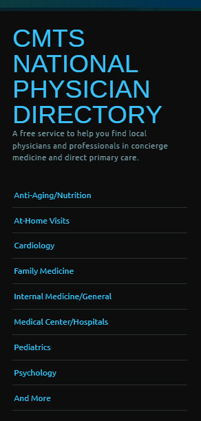 concierge medicine network