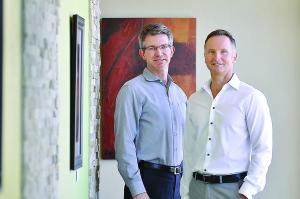 Photo By: Kathleen Lavine | Denver Business Journal -- Drs. Clint Flanagan and David Tusek are the co-founders of Nextera Healthcare. Flanagan says the practice nearly doubled its patients in 2013.