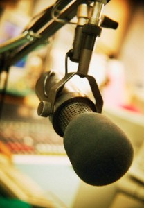 Microphone in Radio Studio --- Image by © Kristy-Anne Glubish/Design Pics/Corbis