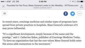 ny times concierge medicine today 2016