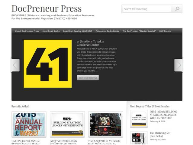 Visit The DocPreneur Press BOOKSTORE and RESOURCE CENTER ...