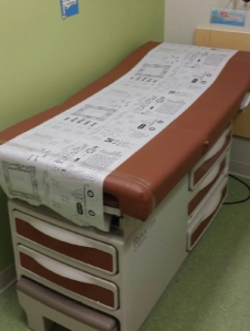dr scribbles exam table