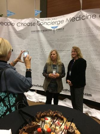 2017 CMT FORUM in ATL.   Concierge Doctor, Ellie Campbell (left) and Natalie Patierno (right) pictured were speakers at the national/international gathering of Physicians.
