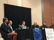 Dr. Todd Feinman (Far Right) participated in a Friday morning Innovators in Healthcare Roundtable. He discussed the role of technology and the responsibility Physicians have in bringing Evidence-Based Medicine (EBM) into the exam room to improve physician efficiency and patient outcomes at the CMT FORUM in Atlanta, Oct. 27, 2017.