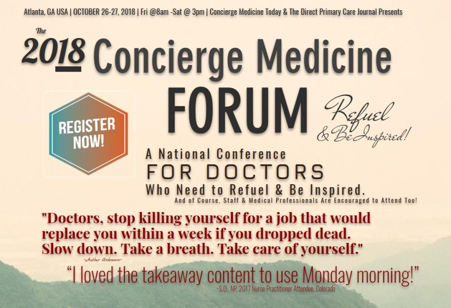 concierge medicine forum 2018 2sm