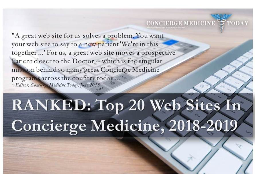 top 20 web sites best concierge medicine 2018