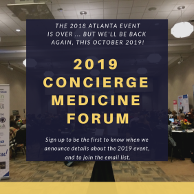 2019 CMT concierge medicine forum