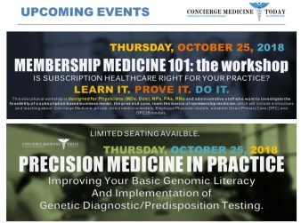 ABOUT OUR NEW, PRE-CONFERENCE Workshops AVAILABLE *Each pre-conference workshop requires separate registration and is NOT INCLUDED in the general CMT 2018 FORUM registration fee. www.ConciergeMedicineFORUM.com