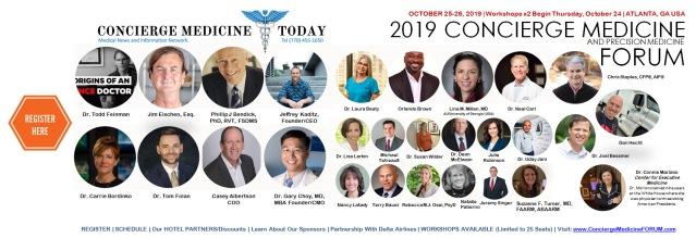 speakers 2019 concierge medicine forum conference